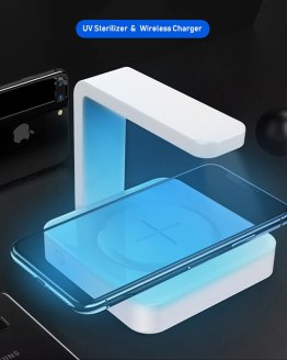 5W 10W 2 In 1 Portable Mobile Phone Wireless Charger UV Germicidal Lamp Magnetic Separator Fast Charging Wireless Charger