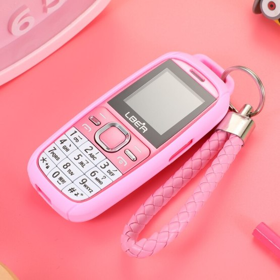 Bar Lovely Cartoon Pocket Small Mobile Phone Student Children No Camera Bluetooth Torch Mini Cute CellPhone Free Case