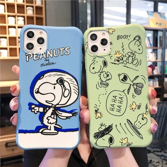 Small Waist Cartoon Case For iPhone 11 Pro Max XR X Xs Max 7 8 6 6s Plus Soft Silicone TPU Phone Cases Cute Dog Candy Back Cover