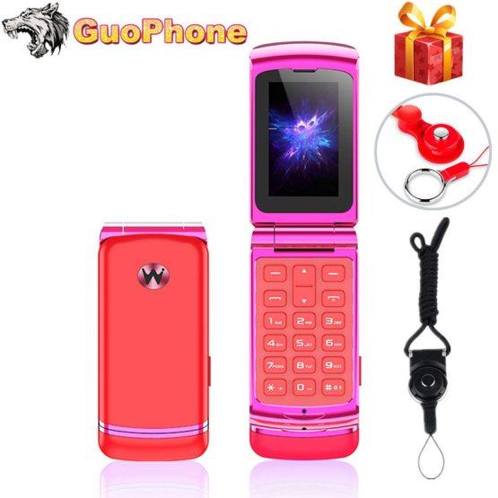 "Ulcool F1 Mini Clamshell Mobile Phone 1.08"" Single Sim Wireless Bluetooth Dialer Handsfree Earphone Mini Small Flip Cell Phone"