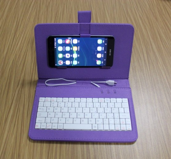 Wired Keyboard Flip smartphone Case protector holder stand