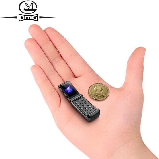 Russian keyboard clamshell small Mini flip mobile phone Bluetooth dialer push-button gsm Magic Voice Single sim Unlock cellphone