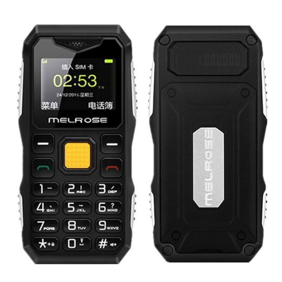 AEKU Melrose S10 Mini Pocket Mobile Phone Small Card Cell Phone Big Voice Shockproof Dustproof Rugged Flashlight PK S9 S11