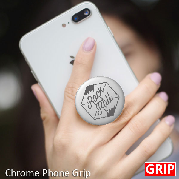 Cheap inexpensive chrome pop sockets for promotional product and trade show giveaway