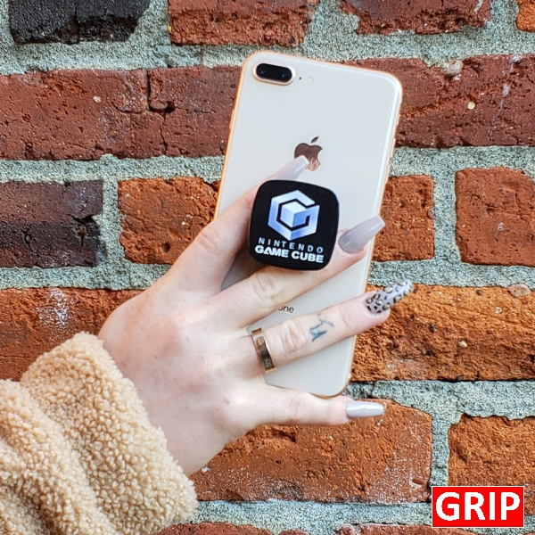 square pop phone socket grip for phone stand