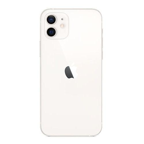 The back of iPhone 12 mini White