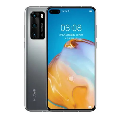 Huawei P40 Front and Silver Back image