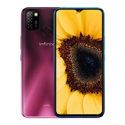 Infinix Hot 10 Lite front and back image collage