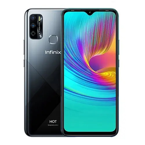 Infinix Hot 9 Play front and back collage