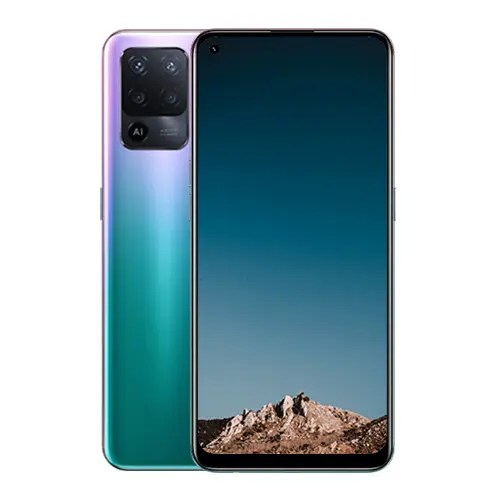OPPO Reno 5F Fantastic Purple back and front Display