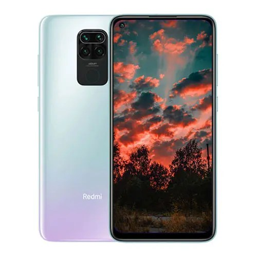 Xiaomi Redmi Note 9 front and Silver back