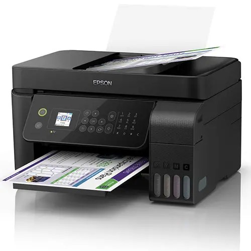 Epson L5190 Wi-Fi All-in-One Ink Tank Printer with ADF Front and Side Display