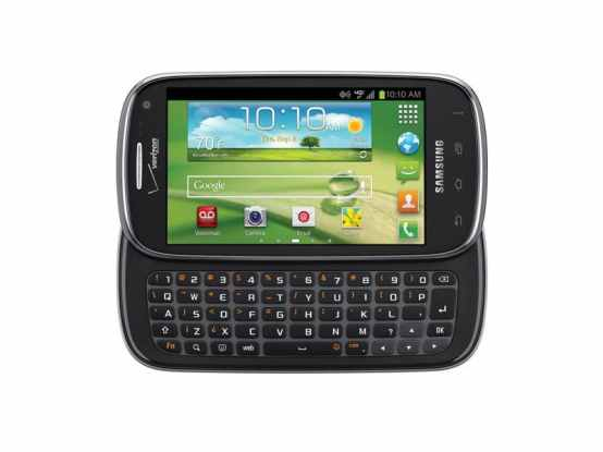 Samsung smartphone with physical keyboard