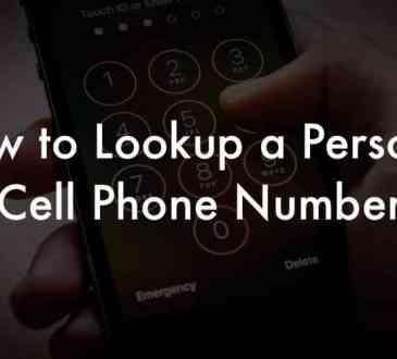 Lookup Someone's Cell Phone Number