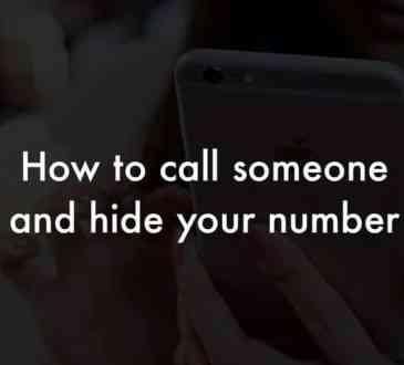 call someone and hide your number