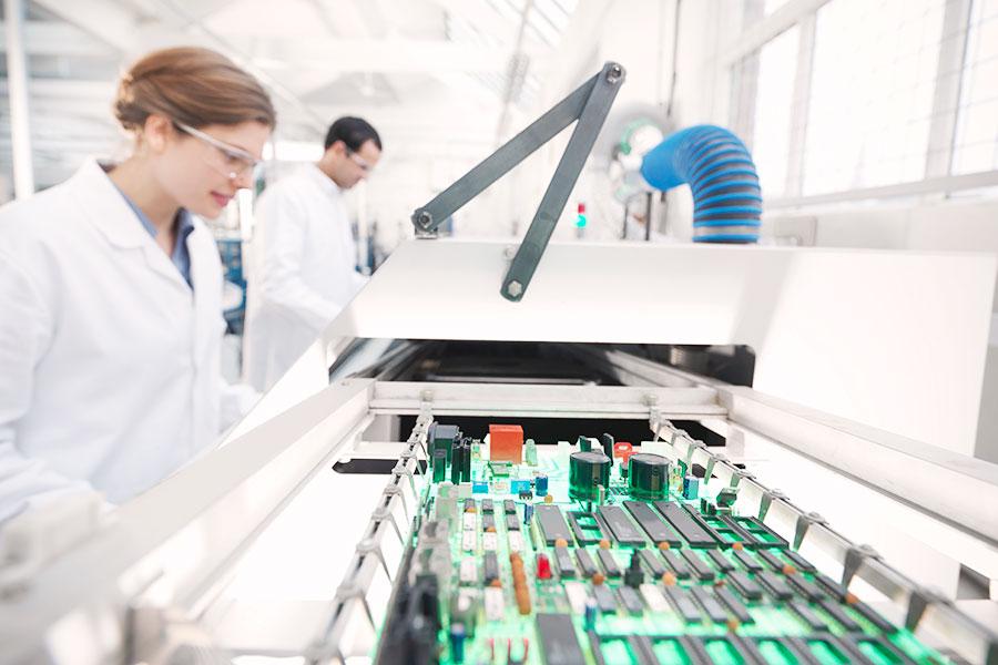 high tech manufacturing lab