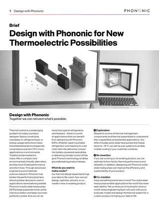 Thermoelectric Possibilities