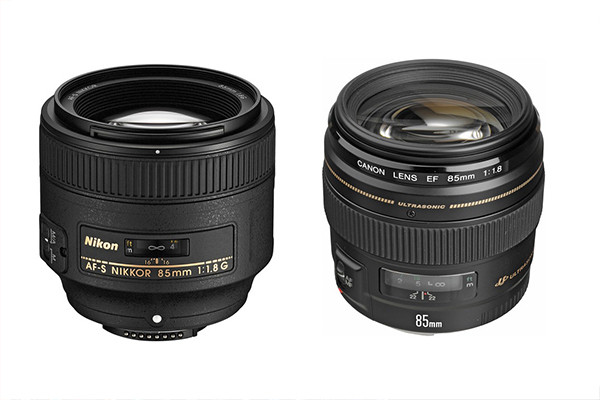 Canon and Nikon 85mm Fixed Lenses