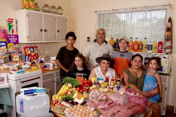 Peter Menzel Austrailian Family Food