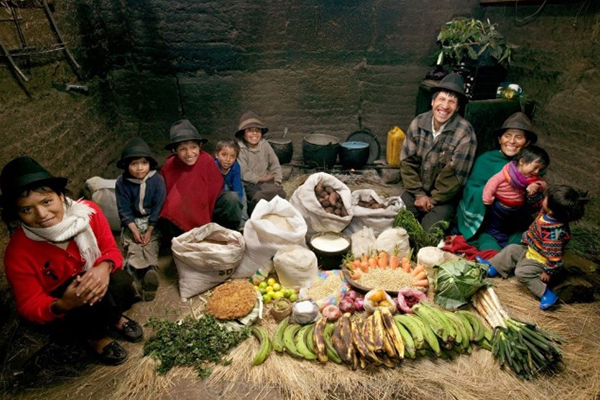 Peter Menzel Ecuadorian Family Food