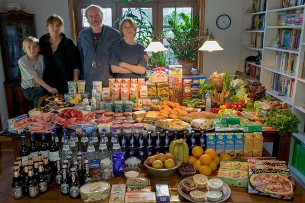 Peter Menzel German Family Food