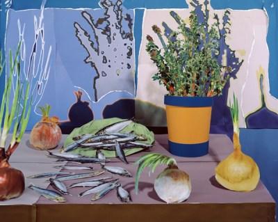 Daniel Gordon Sardines and Thyme Food Photography Collage Art