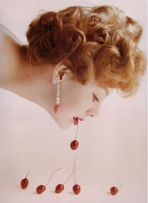 Guy Bourdin Food Cherries