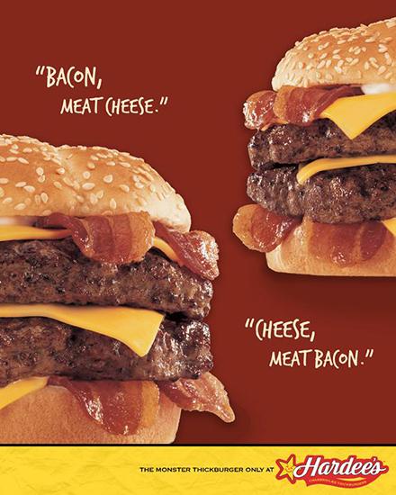 Hardees Creative Food Job Advertising