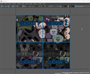 optimizing mobile vr character art UVs image