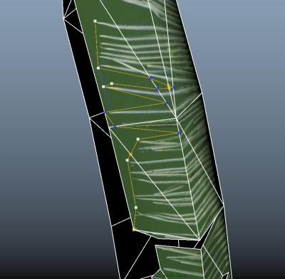 The multicut tool can help further shape the foliage.