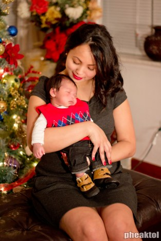 My sister in law and her newborn.