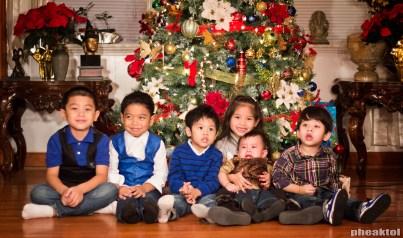 My sons, niece and nephews.