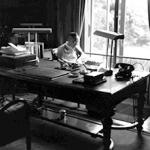 1951年 吉岡専造『吉田茂』《目黒公邸にて》