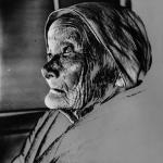 1950年 杵島 隆《老婆像》