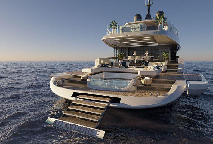 Columbus Atlantique 43m yacht design