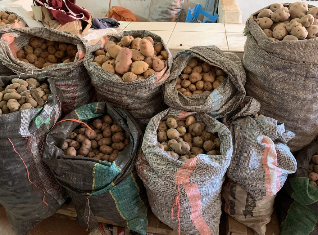 Potatoes at Pisac market, Peru ©2019, Cyndie Burkhardt