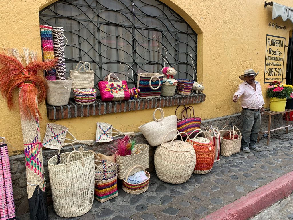 Basket Seller, Tepoztlan, Mexico ©2019, Cyndie Burkhardt