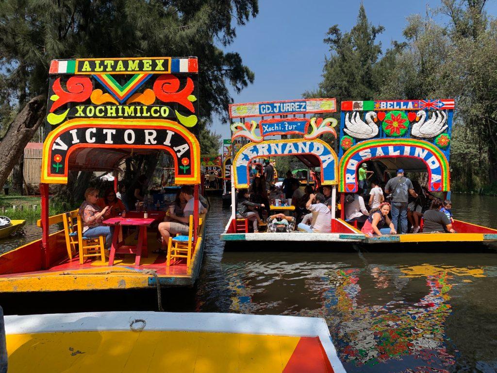 Trajineras, Xochimilco, Mexico ©2019, Cyndie Burkhardt