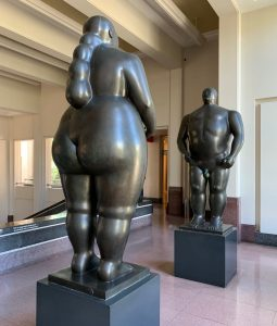 Botero sculpture of Adam and Eve, Medellin, Colombia ©2019, Cyndie Burkhardt