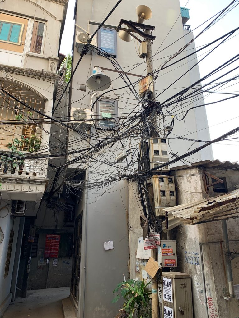 Black noodles in the alley, Hanoi, Vietnam ©2019, Cyndie Burkhardt.