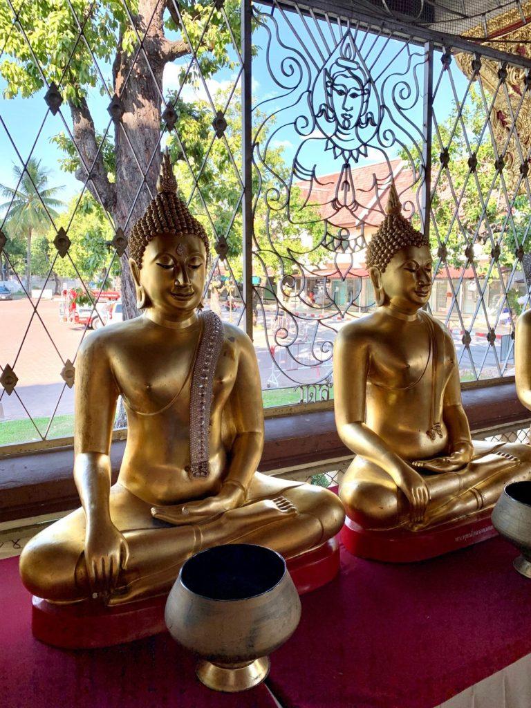 Budda statues, Chiang Mai, ©2019, Cyndie Burkhardt