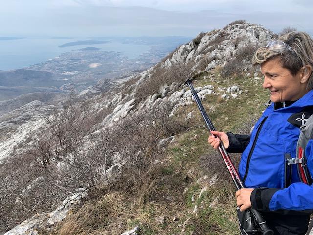 Milena Šijan on Mosor Mountain, Split Croatia ©2020, Cyndie Burkhardt.