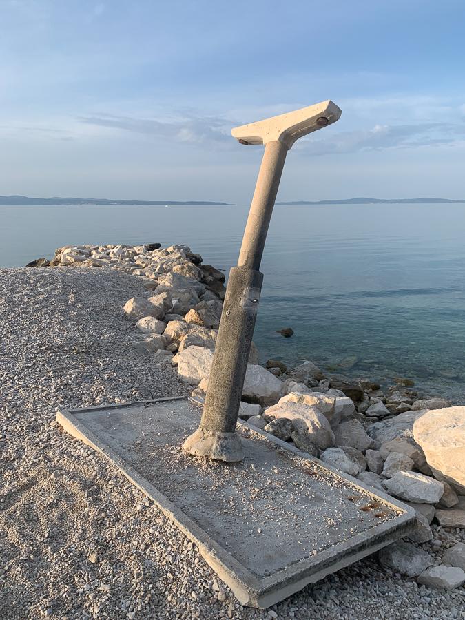 Znjan Beach, Split, Croatia ©2020, Cyndie Burkhardt.