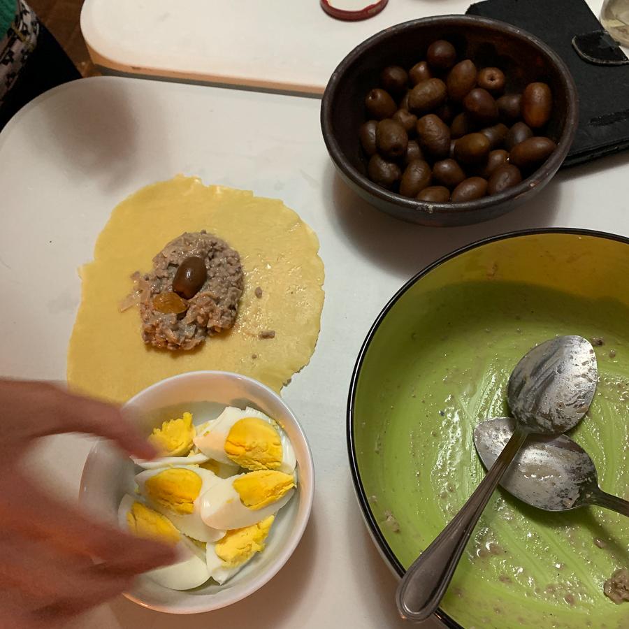 Making Empanadas, Santiago, Chile ©2019, Cyndie Burkhardt.