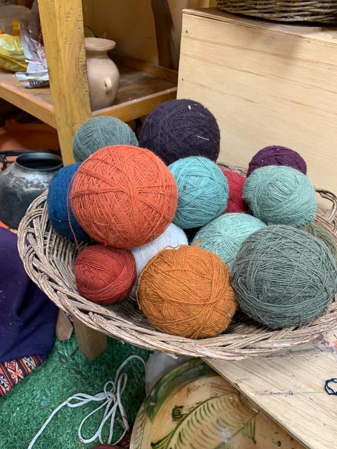 Natural Dyed Wool, Chinchero, Peru ©2019, Cyndie Burkhardt.