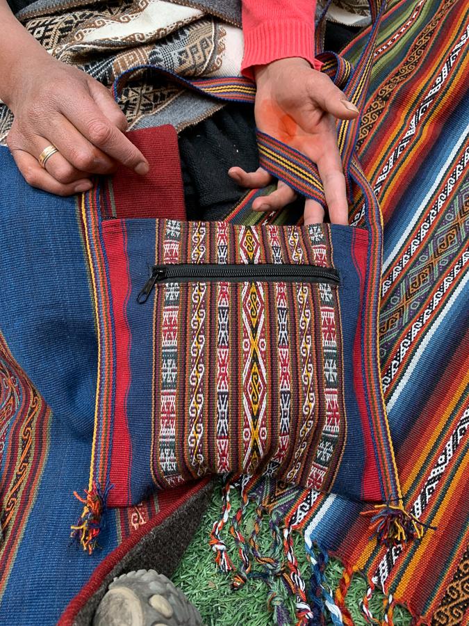 Traditional Woven Handbag, Chinchero, Peru ©2019, Cyndie Burkhardt.