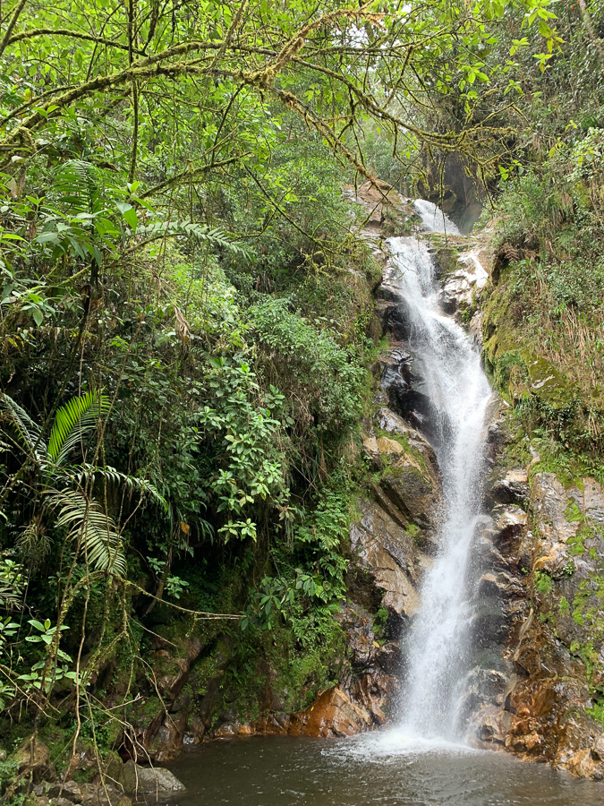 Waterfall at Angels Falls Mountain, Envigado, Colombia, ©2019, Cyndie Burkhardt.