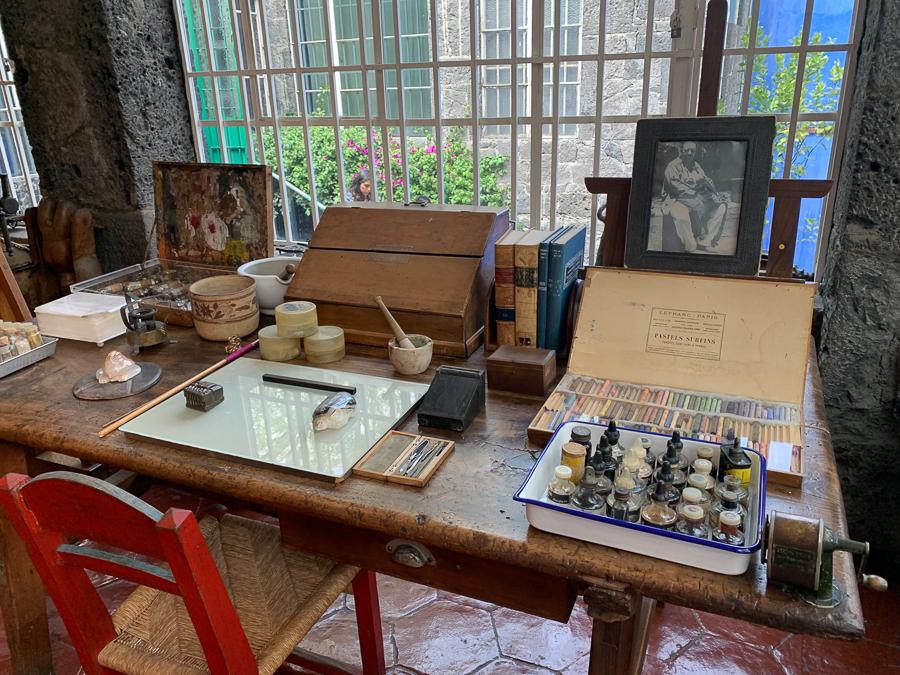 Frida Kahlo museum, Coyoacan, Mexico ©2019, Cyndie Burkhardt