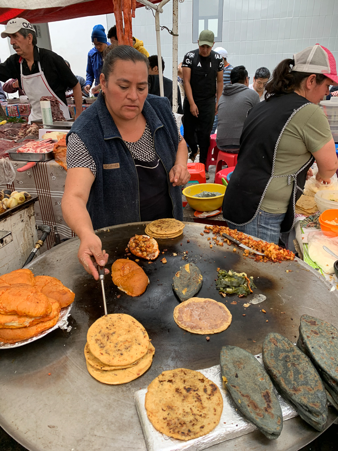 Making Street Food, Mexico City, Mexico ©2019, Cyndie Burkhardt