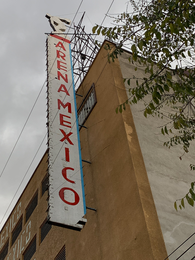 Arena Mexico, Mexico City, Mexico ©2019, Cyndie Burkhardt
